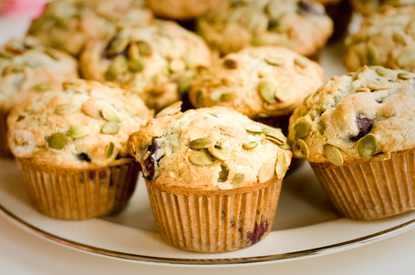 Cherry-Pumpkin Seed Muffins From The