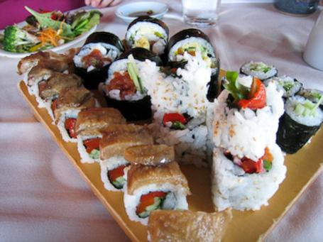Vegetarian Sushi At Kisaku Sushi In Seattle