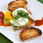Recipe: Soft-boiled Egg With Shiso and Kochujang (Korean Hot Sauce)