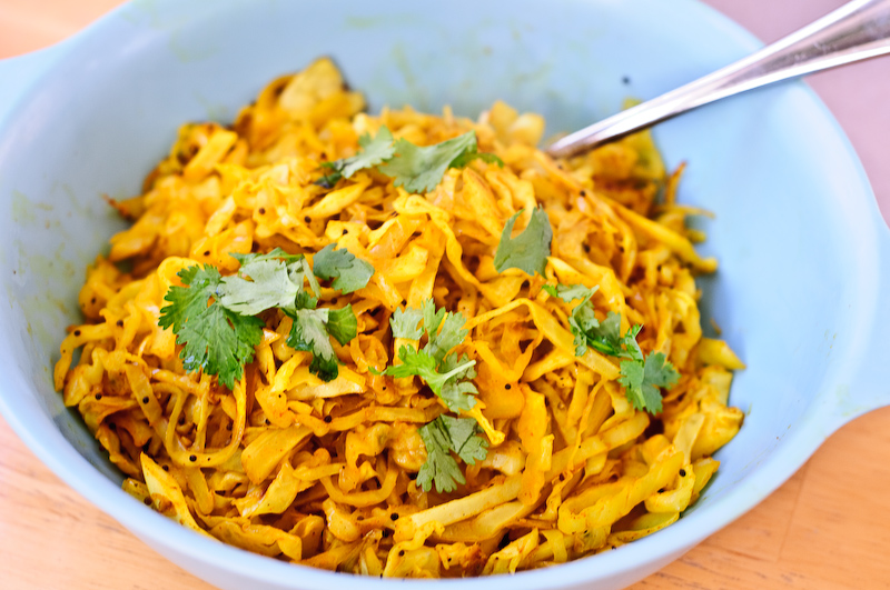 Five Minute Indian Style Cabbage A Tasty And Easy Side Dish