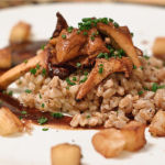 Farro with Chanterelles, Apples, Apples and Apples