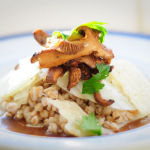 Farro Salad With Chanterelles, Fennel and Apples