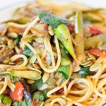 Kitchen Sink Spaghetti with Asparagus, Eggplant and Everything Else You Have in the House – Recipe