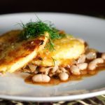 Crisp Polenta Cakes with Braised Cabbage and Beans – Recipe
