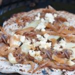 Grilled Pizza with Fingerling Potatoes, Blue Cheese and Caramelized Onions – Vegetarian Recipe