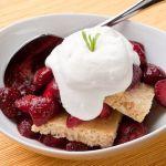 """Strawberry """"Shortcake"""" with Cornbread and Tarragon Whipped Cream – Recipe"""