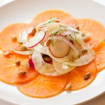 Persimmon Carpaccio with Fennel Salad – Recipe