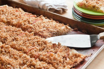 Apple Crostata with Breadcrumb Streusel