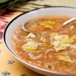 Celery Soup with Fregola or Israeli Couscous