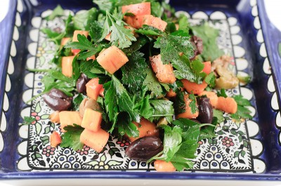 Persimmon Parsley Olive Salad