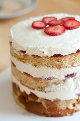 Strawberry Birthday Cake, Momofuku Milk Bar Style