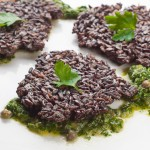 Black Rice Fritters with Chimichurri – a Hanukkah Friendly Entree Recipe