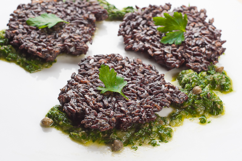 Black rice fritters with chimichurri a hanukkah friendly entree hanukkah friendly entree recipe black rice fritters with chimichurri forumfinder Choice Image