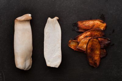 """Vegetarian """"Bacon"""" From King Oyster Mushrooms"""
