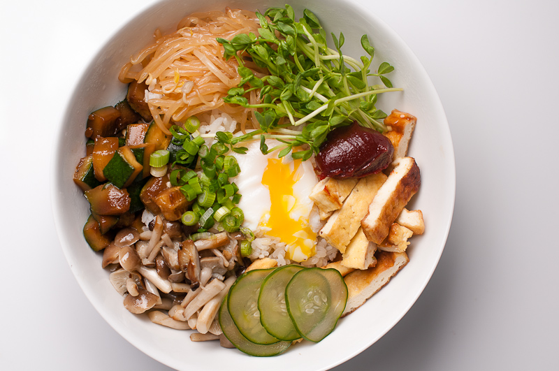 Vegetarian bibimbap korean rice with vegetables and kochujang vegetarian bibimbap forumfinder Choice Image