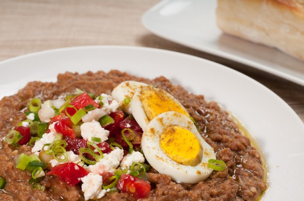 Ethiopian Ful Medames - Fava Beans with Berbere and Tasty Garnishes - Recipe