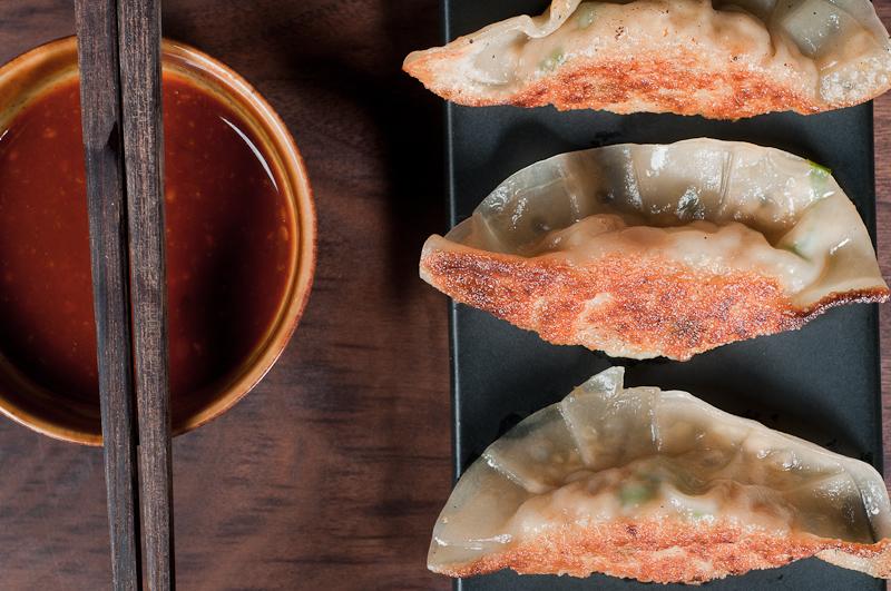 Vegetarian Mandu (Korean potstickers)