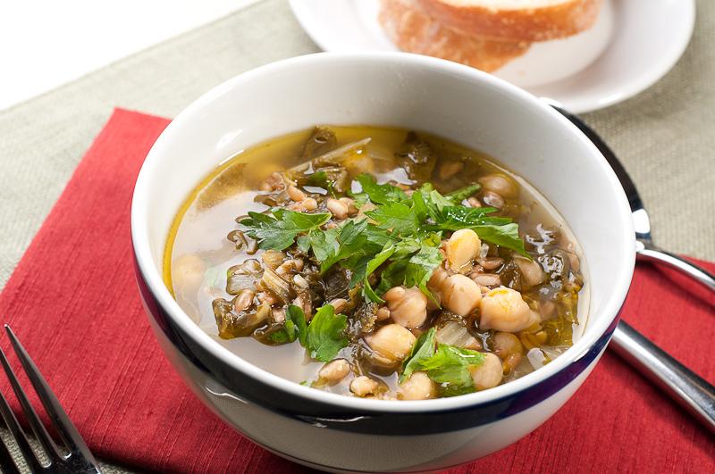 Farro Chickpea Soup